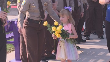 MCSO escorts daughter of fallen deputy to her first day of school