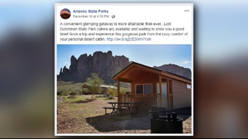 Looking for a staycation destination? Try the cabins at Lost Dutchman State Park