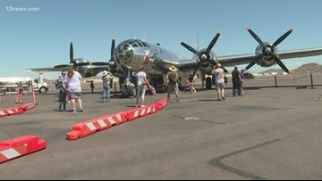 Rare Boeing B-29 'super fortress' WWII plane lands in Phoenix