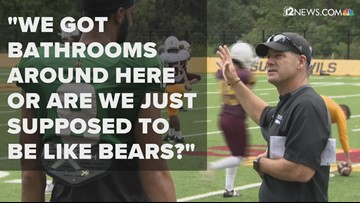 Coach Likens mic'd up: 'We got bathrooms around here or are we just supposed to be like bears?'