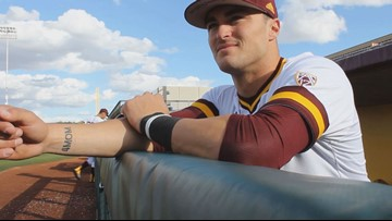 ASU baseball's Hunter Bishop honors mother battling Alzheimer's
