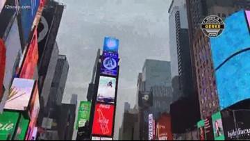 Where is Gerke's final stop? He's in New York!