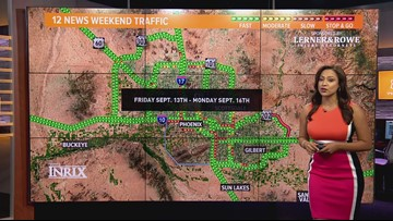 Weekend traffic outlook for Sept. 13 - Sept. 16