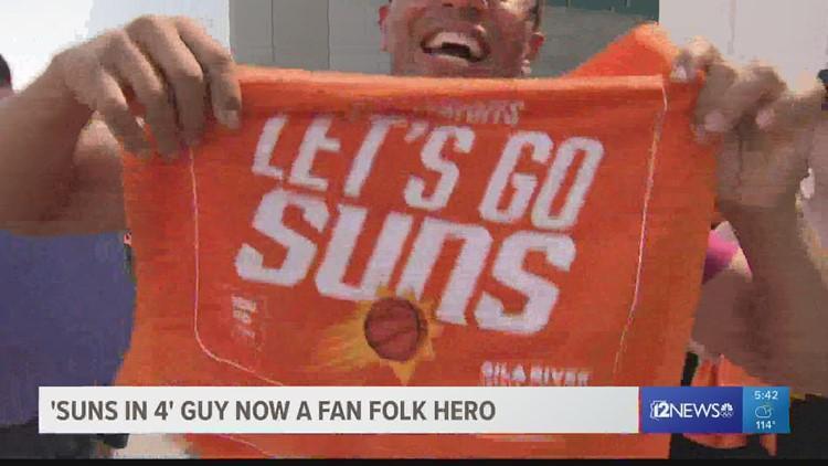 'Suns in 4' guy now a fan folk hero