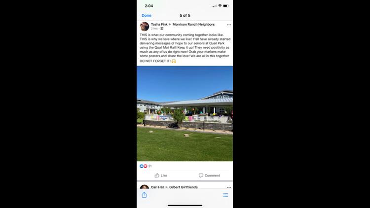Quail Park facebook post