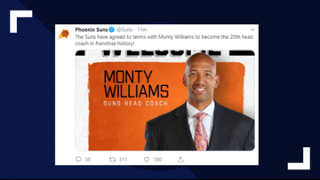 Phoenix Suns agree to terms with Monty Williams to become new head coach