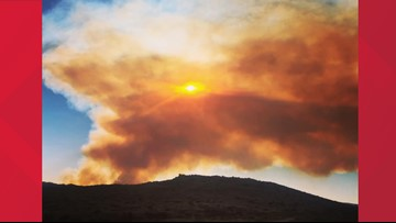 Wildfire burning south of Prescott grows to about 1,000 acres