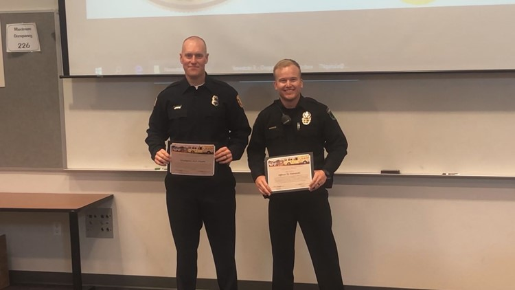 Glendale police officer and firefighter honored for saving 2 men from burning apartment