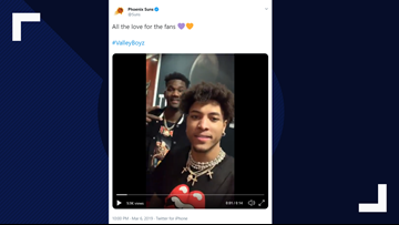 Kelly Oubre Jr. thanks Suns fans after third-straight win