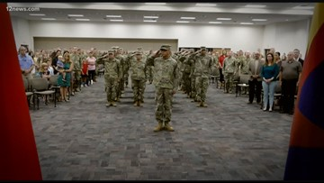 Those Who Serve: Arizona National Guard soldiers send-off ceremony