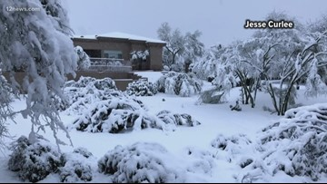 North Scottsdale residents woke up to snow-covered homes