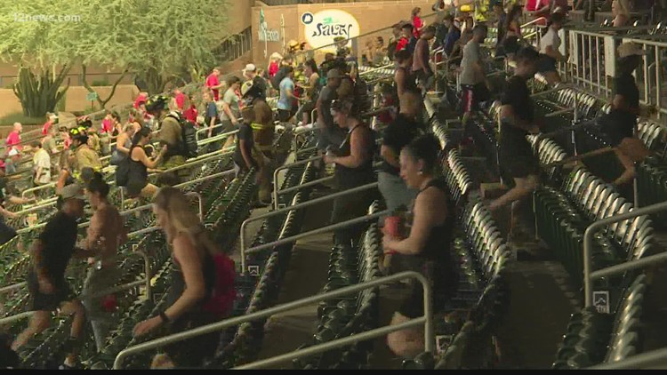 Hundreds participated at the 9/11 Memorial Stair Climb at Salt River Fields