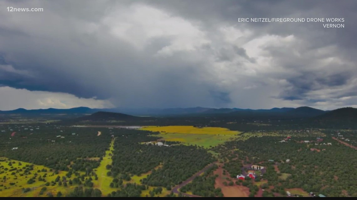 Monsoon storm moving across the entire State of Arizona