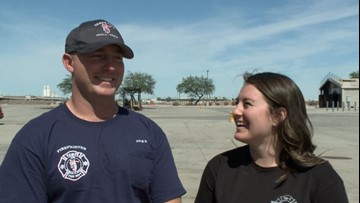 Tempe firefighter surprises girlfriend with proposal