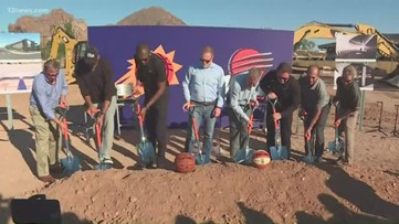 Phoenix Suns break ground on new practice facility near 44th St. and Camelback