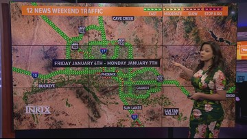 Here's your weekend traffic outlook for Jan. 4 - Jan. 7