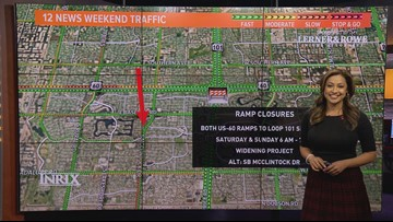 Weekend traffic report for Feb. 7 - Feb. 10