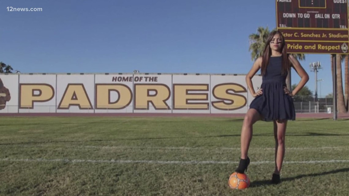 Female football player defying the odds