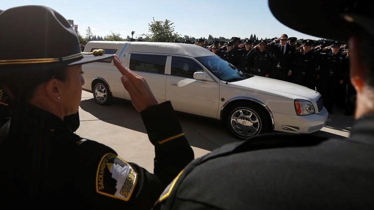 Thousands line memorial procession for slain Sacramento Officer Tara O'Sullivan