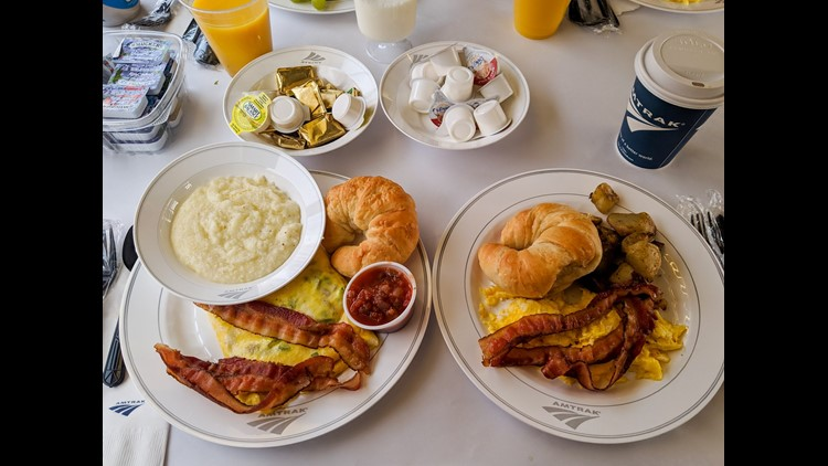 During my time on the Empire Builder, breakfast was by far the best meal.
