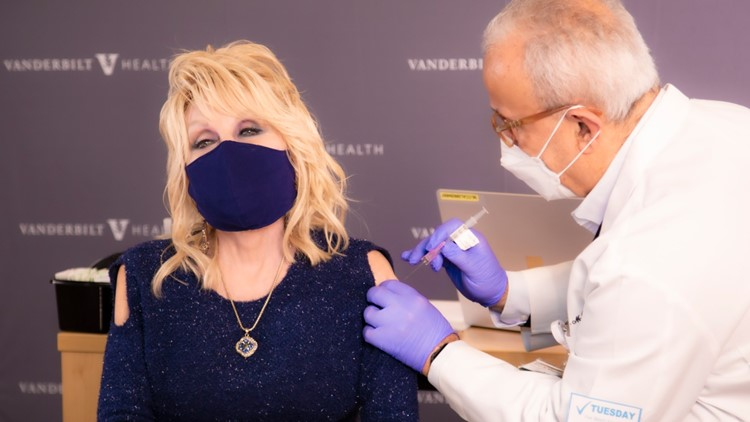 'A dose of her own medicine' | Dolly Parton receives COVID-19 vaccine after helping fund it