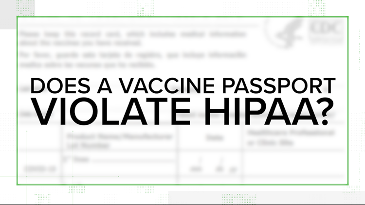 VERIFY: No, a vaccine passport does not violate HIPAA