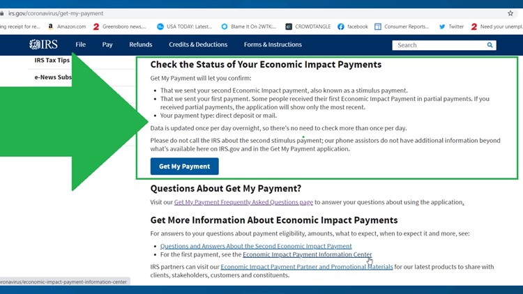 How to check the status of your stimulus payment