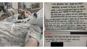 COVID-19 patient who left heartwarming note for Cleveland Clinic caregivers shares story of survival
