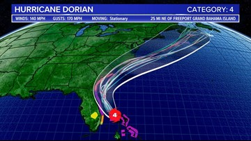 Hurricane Dorian drops to Category 4 storm, still on track