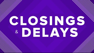 Area school and business closings