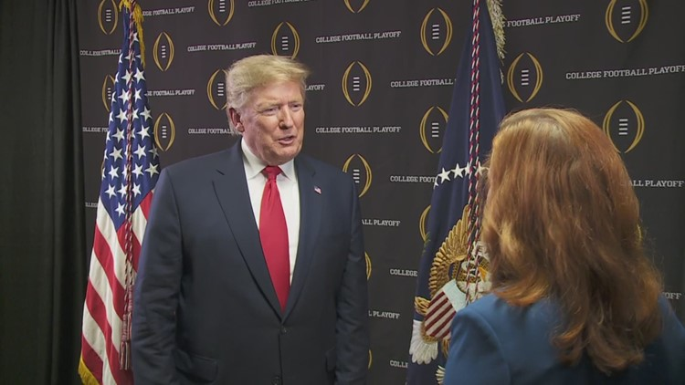 Pres. Trump talks football, impeachment, more at LSU-Clemson championship