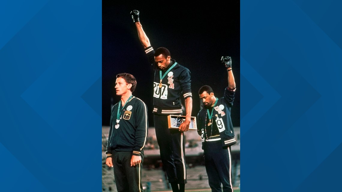 The 1968 moment 2 Olympians raised their black-gloved fists on stage | Breaking Barriers